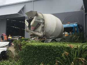 Runaway cement truck leaves trail of destruction