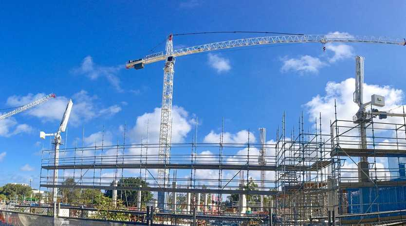 CHANGING LANDSCAPE: Cranes dot the skyline for the $400million expansion of the Sunshine Plaza shopping centre at Maroochydore.