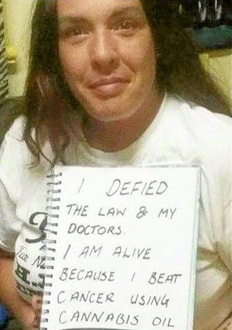 Shona Leigh said she had second stage cervical cancer cured in eight months using oil supplied freely.