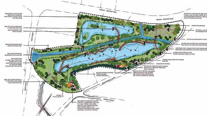 NEW LOOK: Concept map of what the wetlands will look like
