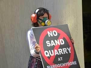 Residents prepare for long haul in sand mine limbo