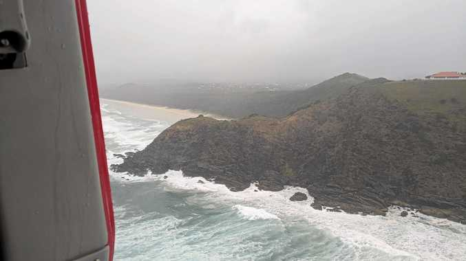 The Westpac Life Saver Rescue Helicopter was tasked late yesterday afternoon from the Gold Coast University Hospital helipad to assist in the search for a male swimmer swept from Tallows Beach.
