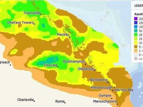 Rainfall predictions for Sunday, February 4