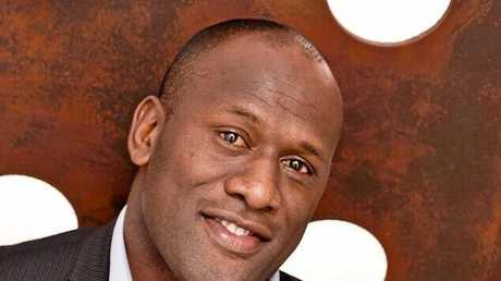 Wendell Sailor is the sideline reporter for Channel 7's new show Australian Spartan. Supplied by Seven.