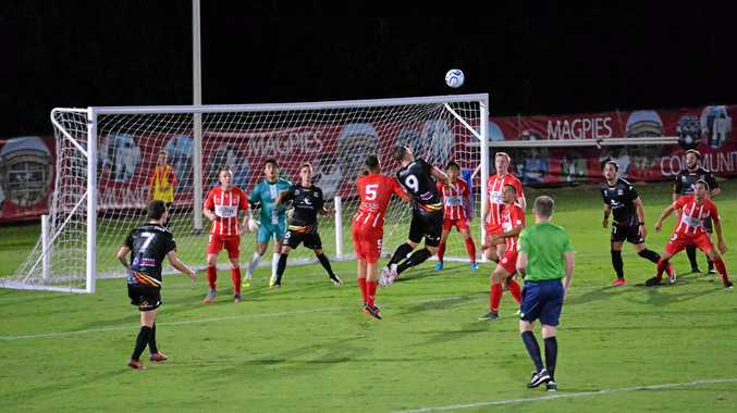 Magpies Crusaders United VS Olympic FC at Sologinkin Oval, Mackay in round one of the 2018 NPL Queensland season on Saturday, February 3.