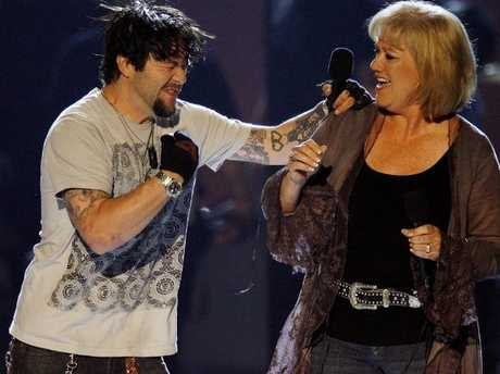 April Margera (right), saw a change in her son and his friends when Jackass became a success.
