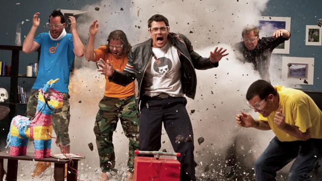 A scene from the Jackass 3D.