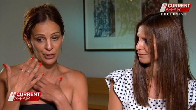 Sisters Effie Stagnitti and Zoe Bonello talk about discovering the alleged abuse of their disabled brother. Source: Channel 9/A Current Affair