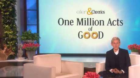 Ellen rewarded her audience for reaching their goal of one million acts of good.