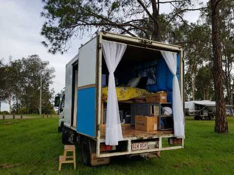 Chrissy still has more work to do on her home, but she's loving life in a van. Picture: Brisbanegirlinavan