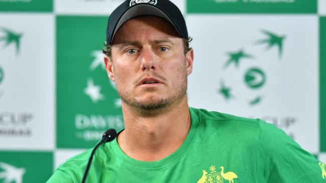 Lleyton Hewitt got to see the action at least.