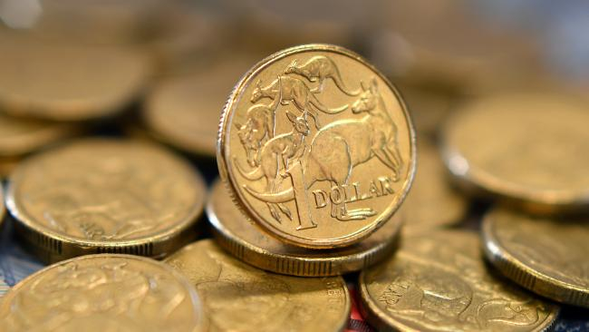 The Australian dollar dropped 1.5 per cent overnight. Picture: Joel Carrett