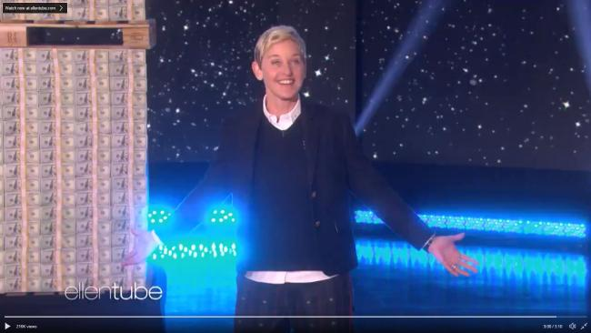 Ellen has provided her audience with her biggest gift so far.