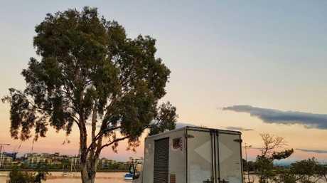 She's got plenty of spectacular spots to 'live'. Picture: Brisbanegirlinavan