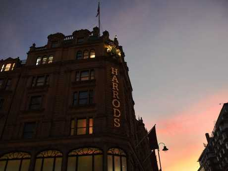 Harrods by night is a sight to see.