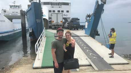 PRISTINE SCREEN TIME: Married at First Sight newlyweds Mat and Alycia enjoying their time on Fraser Island, which was filmed between September and October 2016.