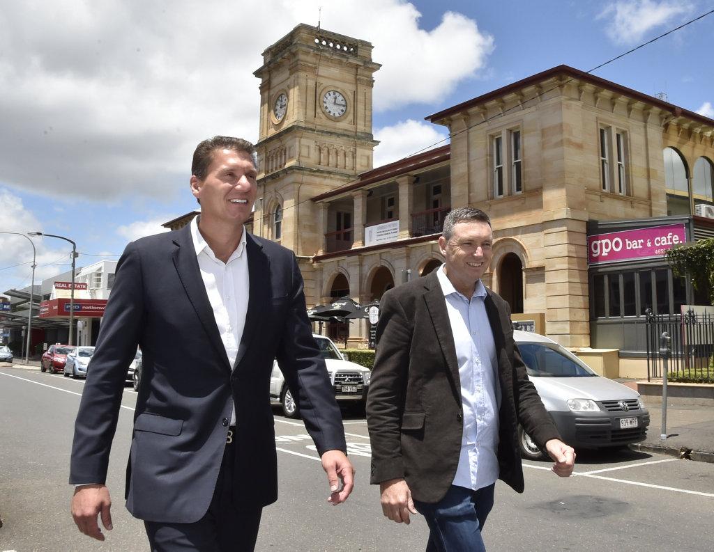 Senator Cory Bernardi (left) with Lyle Shelton Australian Conservatives. February 2018