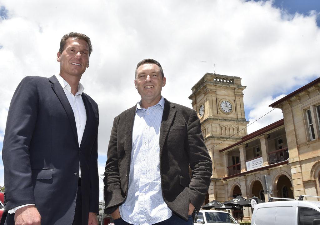 Cory Bernardi (left) with Lyle Shelton Australian Conservatives. February 2018
