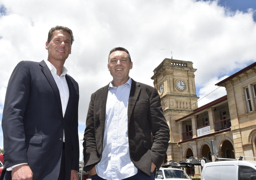 Cory Bernardi (left) with Lyle Shelton Australian Conservatives. February 2018