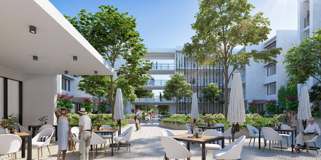 IMPRESSION: An artist's impression of the luxury retirement development.
