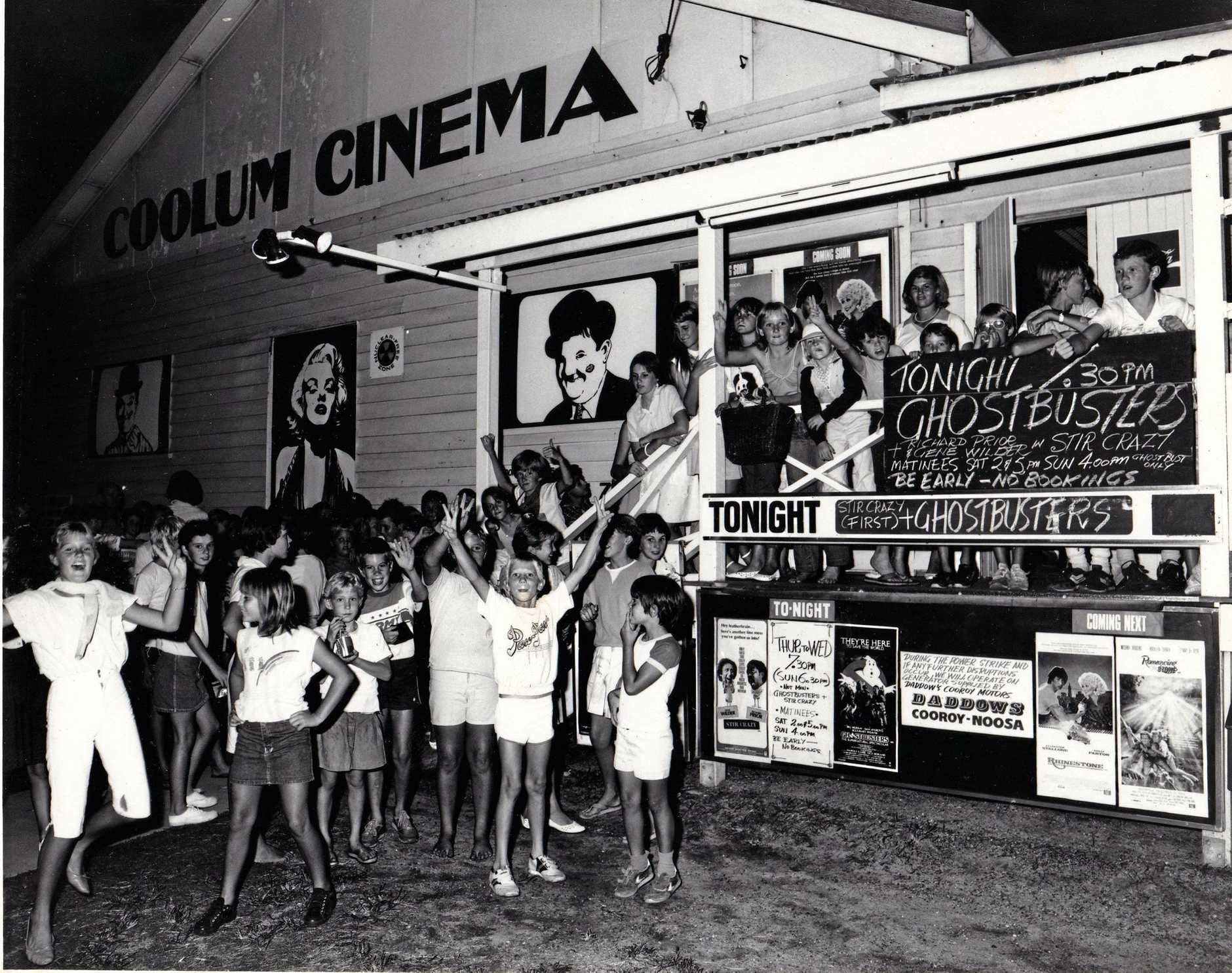 Kids queue for a screening at the Coolum Cinema.