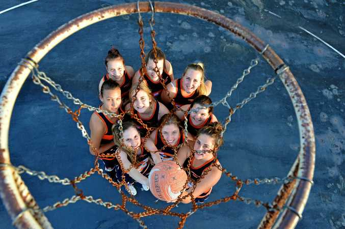 HAPPY DAYS: Nambour netballers in 2013.