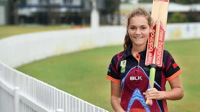 Paige Hatherell,14, is heading off to Alice Springs with the Queensland Indigenous Womens Cricket Team.