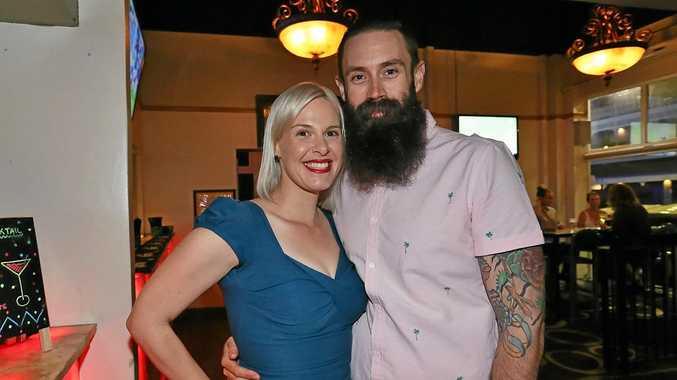 L-R Bianca Meller and Dave Christensen at the Ginger Mule.