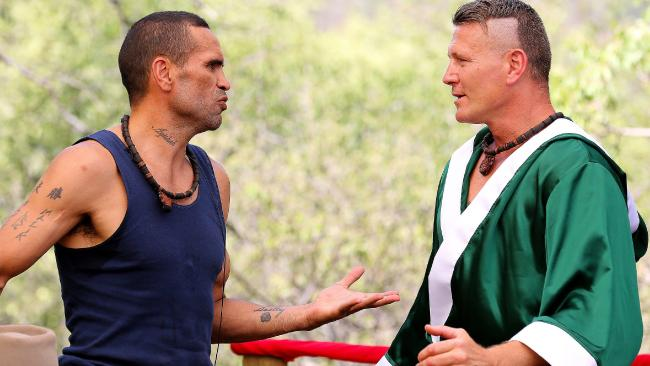 Danny Green and Anthony Mundine have traded barbs in a highly anticipated confrontation on reality television.