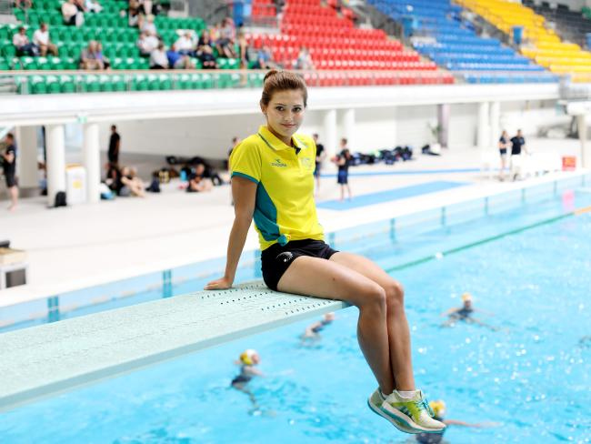 Melissa Wu at Sydney Olympic Aquatic Centre. Picture: Brianne Makin