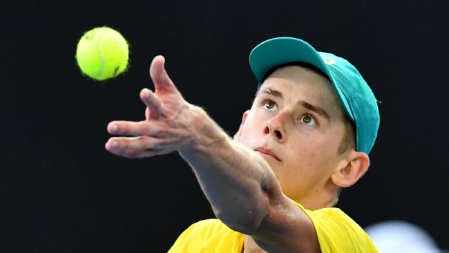 Alex de Minaur could be ruled out of the Davis Cup singles on Sunday.
