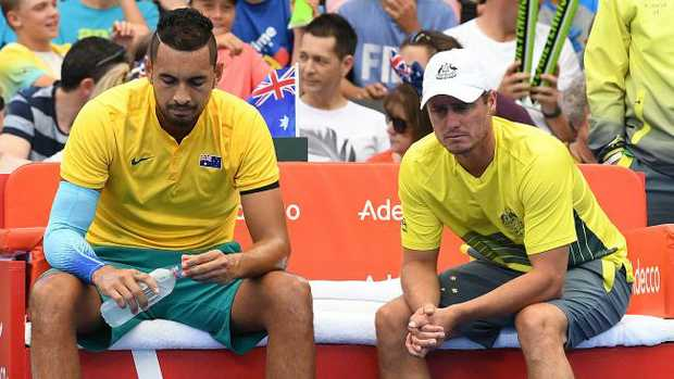 Injured Nick Kyrgios feels disappointed after Davis Cup loss