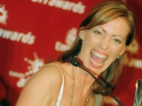 Kerry Armstrong on the night she won best actress at the AFI awards in 2001.