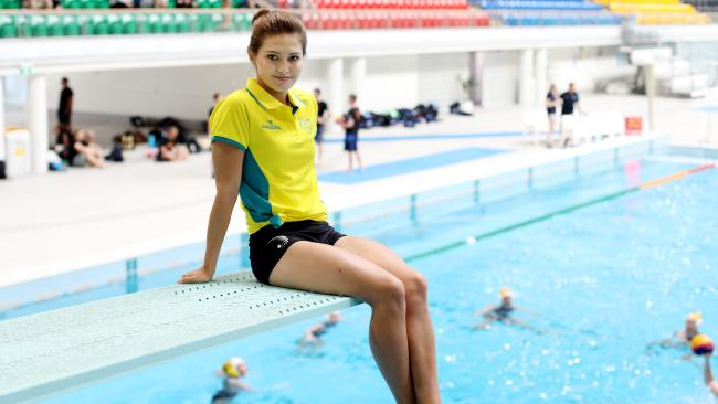 Melissa Wu poses for a portrait after the Australian Diving Team for the Commonwealth Games was announced at Sydney Olympic Park Aquatic Centre, Sydney, Australia, 04 February 2018. Photo by Brianne Makin