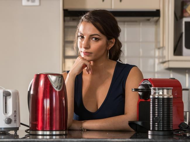 Mia is avoiding using her appliances to cut down her energy costs. Picture: Julian Andrews.