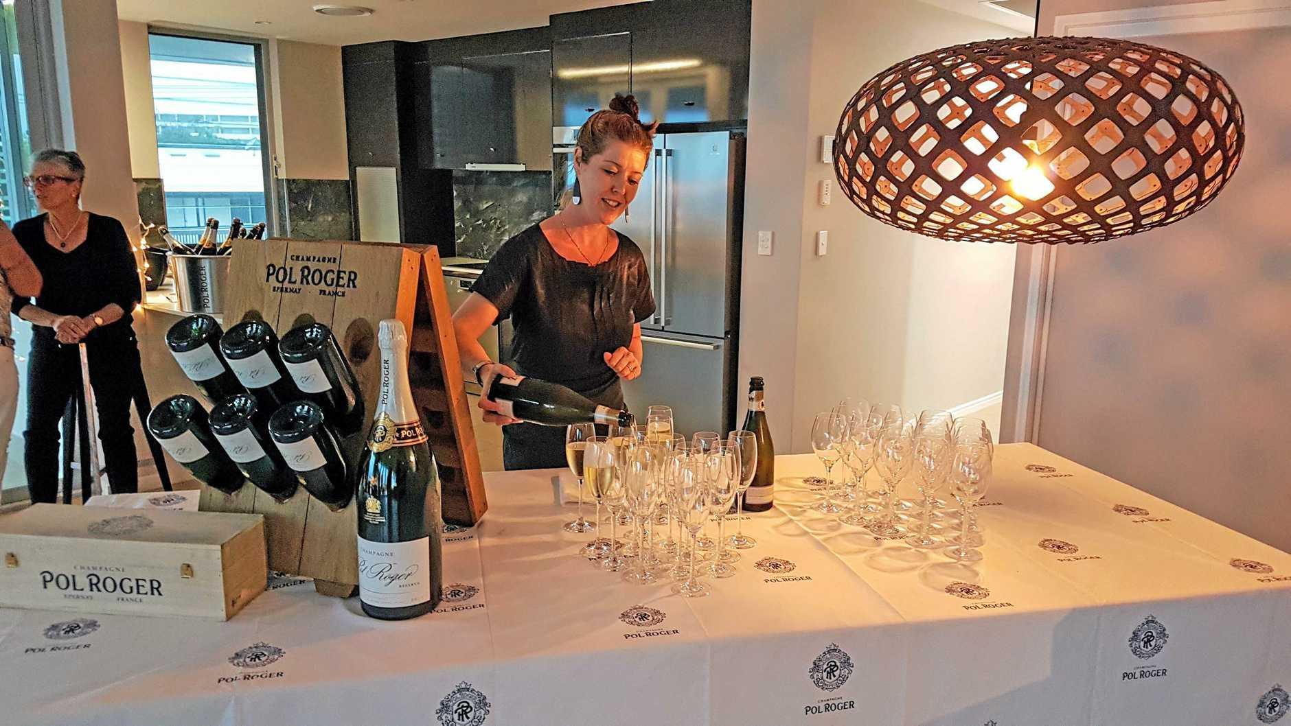 Taste the Stars champagne tasting at The Vinyard Wine Bar and Restaurant.