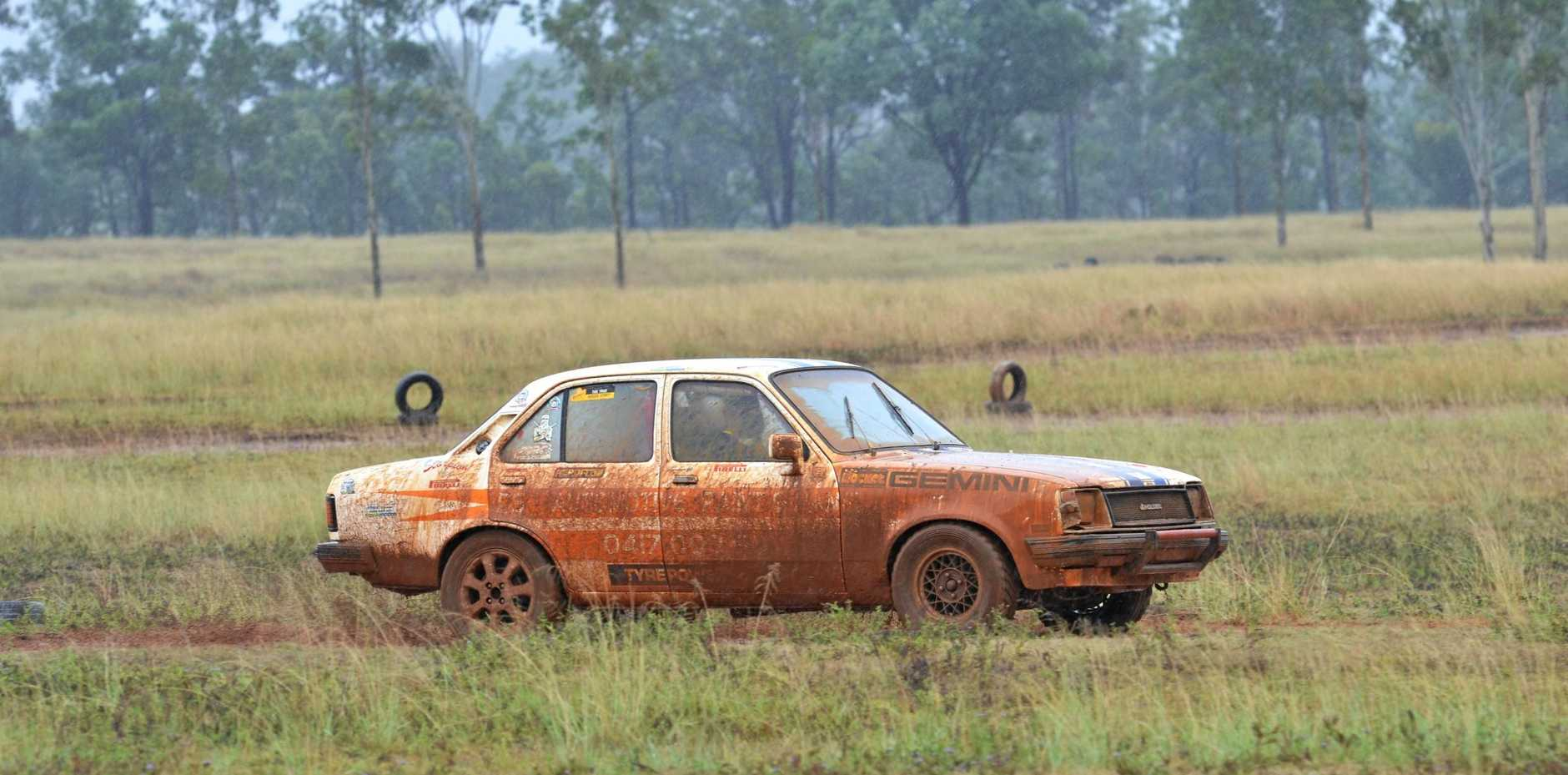 RACING: The weather added an extra dimension to racing at the Proston Car Rally.