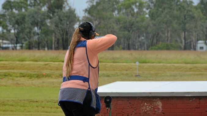 ON TARGET: The wet weather added an extra element to the event.