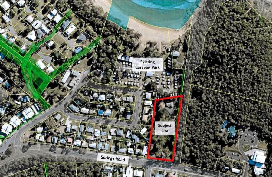 A proposal to expand the beachfront Agnes Water caravan park is with the Gladstone Regional Council.