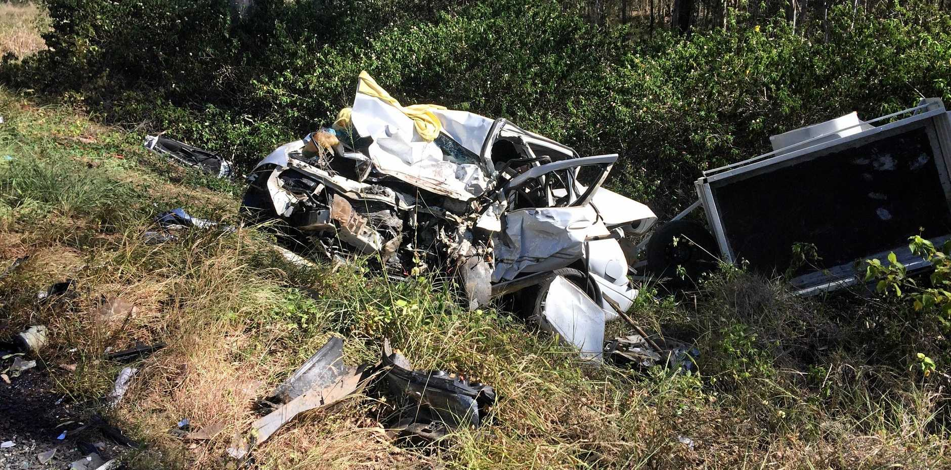 A MAN had to be cut from his wrecked Ford Falcon after being seriously injured in a two-vehicle crash on the Wide Bay Hwy at Lower Wonga on January 13 last year. Now he has appeared in Gympie Magistrates Court on a drug driving charge.
