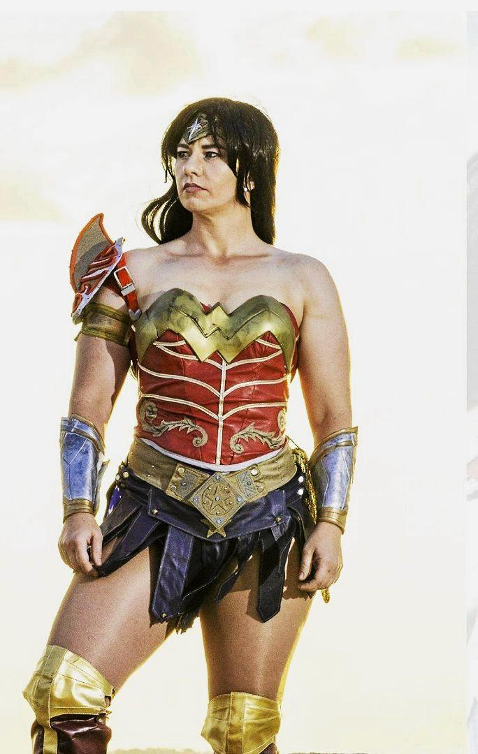 Comics n Pop owner Carla Thornton dressed as Wonder Woman, featured in January's edition of Cosplayology magazine.