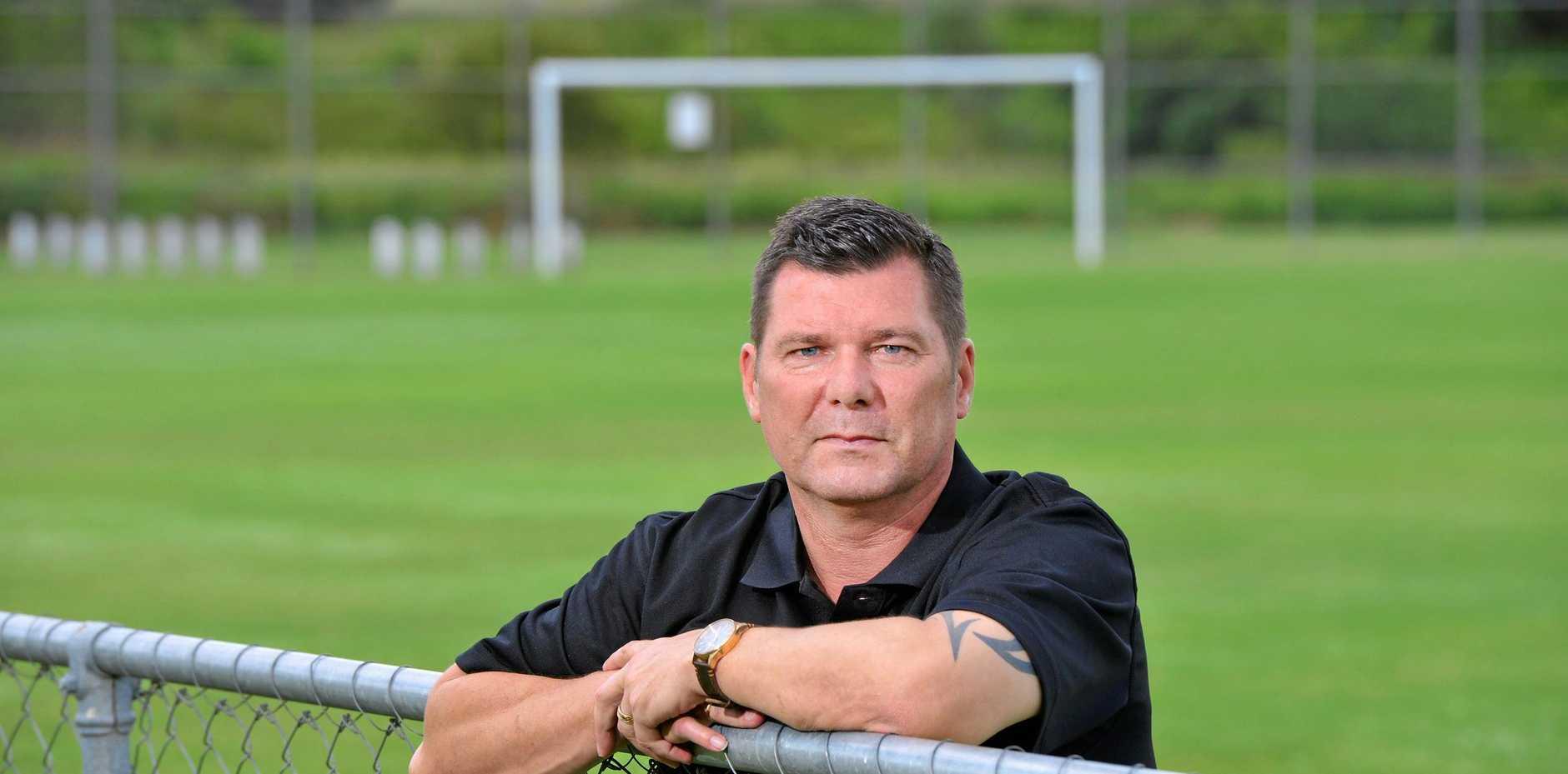 Ipswich Knights new head coach Danny Mchenery.