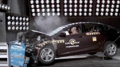 The Commodore's crash test score is based on the results of a left-hand-drive model sold in Europe. Picture: Supplied.