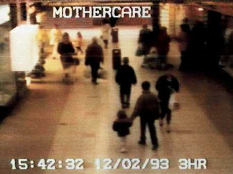 The image that haunted the world, of British child murder victim James Bulger being led away by his killers in The Strand shopping centre.