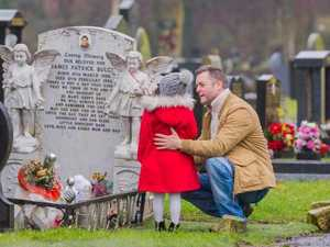 James Bulger's sister visits his grave for first time