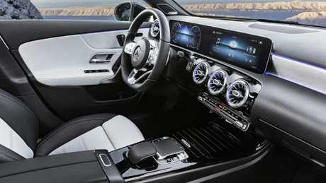 A-Class interior: Benz has added touchscreen functions, which it had previously avoided.