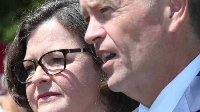 Labor leader Bill Shorten and candidate Ged Kearney campaigning for the Batman by-election. Picture: David Crosling/AAP