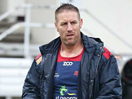 Rookie coach Brad Thorn took the reigns from Stiles at Ballymore. Picture: Annette Dew