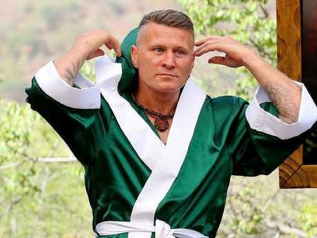 Mundine has nicknamed his rival 'Dunny' Green. Picture: Nigel Wright/Channel 10