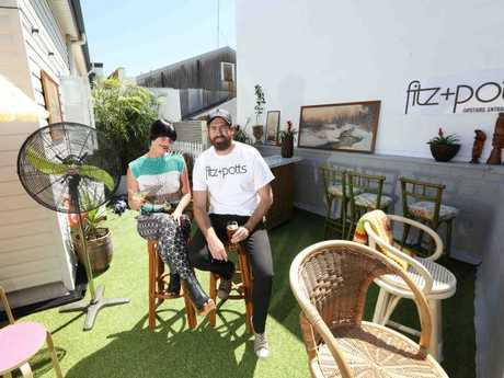 Cassie Potts and Brett Fitzpatrick at Fitz + Potts in Nundah.